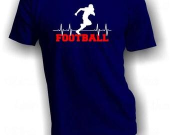 Football Heartbeat - Football Shirt - Football Player Shirt - Football is Life Tee - Football Lover Tee - Grid Iron Shirt - Football TShirt