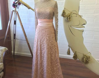 Dusty Peach Ruffle Coralie French Love Letters Ruffle Aline Sash Skirt~ Choose from 11 Colors. Bespoke Bow, Bridal Skirt, seperates.