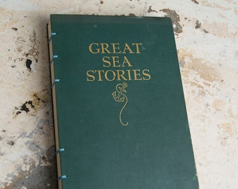 1943 GREAT SEA STORIES Vintage Notebook Journal