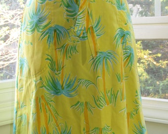 MILESTONE SALE 40% OFF, Vintage Summer Lily Pulitzer Skirt, Palm Trees, Small, Wrap Skirt