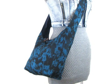 Cross Shoulder Bag - Vegan Purse - Cross Body Bag - Slouch Bag - Hobo Purse for Women - Crossover Bag - Crossbody Bag - Turquoise Purse
