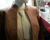 Vintage Necklace Pearl Knit Necktie 60's Mid Century 70's Fashion Jewelry Accessory Ladies Tie