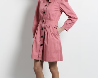 SALE, Womens jacket, womens dress, Womens light jacket, Jacket with collar,elegant, hot pink, buttoned jacket, buttoned dress, jacket dress