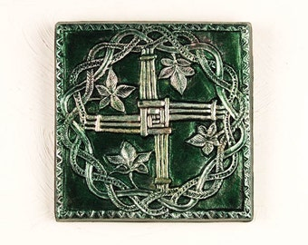 Rustic Cross Wall Art, St Brigid Cross, Confirmation Gift, Wall Crucifix Sacred Art Plaque, Irish Garden Gift, Holiday Gift, Religious Gift