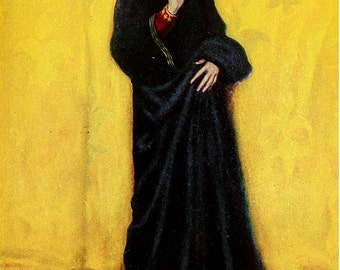 She had Viewed the Great Conqueror, Howard Pyle, Vinatge Art Print