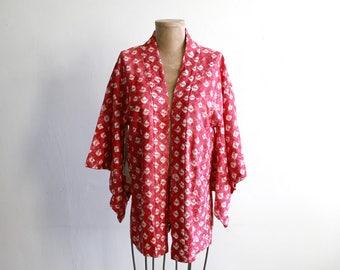Japanese Pink Batik Kimono Blouse