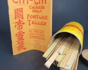 Vintage Chi-Chi Chinese Fortune Telling Game - Ancient Daily Chinese Divination