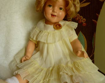 """Vintage 1930's 22""""  Composition Shirley Temple Doll Made by Ideal FREE SHIPPING"""