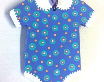 Baby Onesie Ornament Blue