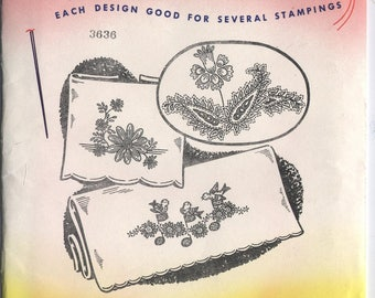 Various PILLOW CASE Designs - Hot Iron Embroidery Transfers - Aunt Martha's - New & UNCUT in Opened Packaging - On Sale!