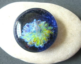 Chartreuse Abstract Cabochon - Lampwork Glass - Jewelry Making Supply