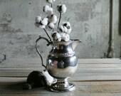Vintage Silver Water Pitcher / Utensil Holder / Vase   No. 2