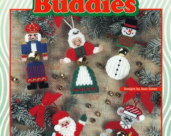 Jingle Bell Ornaments PLASTIC CANVAS Patterns House of White Birches 181029 Christmas Jingle Bell Buddies