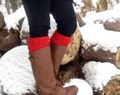 Womens Boot Cuff, Leg Warmers, Crochet boot cuffs, Gifts under 10, Boot cuffs, Photo Prop, Custom colors, Fall Fashion, Stocking stuffers