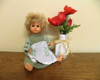"Vintage 12"" Celluloid Doll - Mama Voice Box - German 1950's Doll"