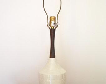 Mid Century Modern White Ceramic Table Lamp