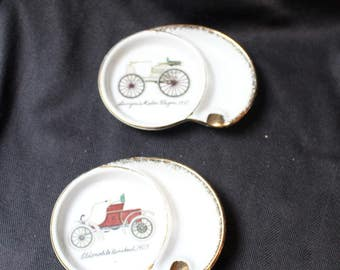 Vintage Ucagco Antique Touring Cars Ashtrays