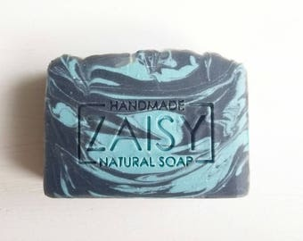 Caribbean Escape Soap, Handmade Soap, Activated Charcoal Soap, Artisan Made, Spa Soap, Skin Loving, For Her, Mom, Relaxation Gifts