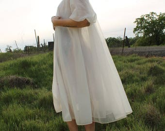 FORGET ME NOT Vintage 1960's Night Gown Lingerie Romantic Nightie Peignoir Shadowline Size Small