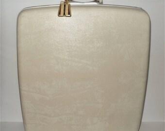 Vintage Samsonite Suitcase Silhouette Valette Valet luggage cream off white