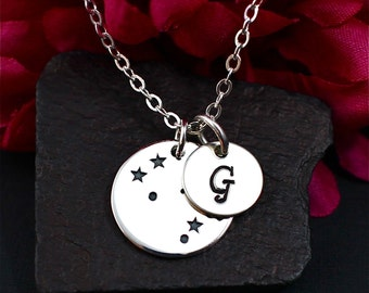 Gemini Constellation Necklace Sterling Silver, Gemini Jewelry, Gemini Sign Necklace, Gemini Zodiak Necklace, Gemini Birthday Gift for Her