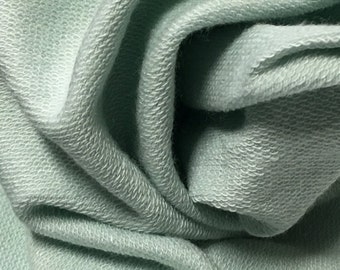 French terry Modal Supima cotton spandex Knit Fabric soft and luxurious Mint