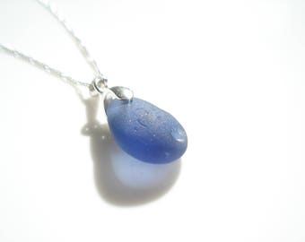 Seaham Sea Glass Violet Pendant - E1730 - from Seaham beach,  UK