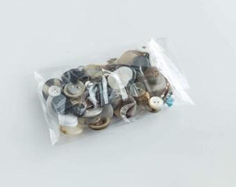 Vintage Button Lot 3 ounce Craft Sewing Supply Random Destash