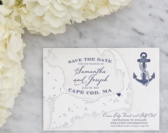 Cape Cod Map Save the Date