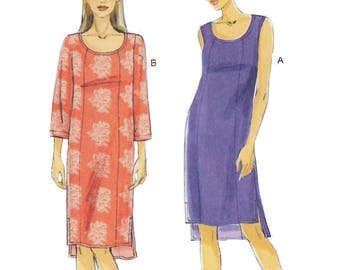 Vogue 8809 Semi-Fitted Pullover Petite Dress Sewing Pattern Size 16 to 22 Bust 38 to 46