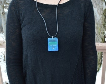 PlayStation PS1 Pendant Necklace Memory Card and Cord Upcycled