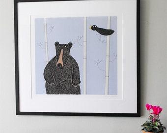 Large Frame For Large Bear Screenprints