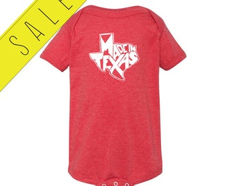 SALE - 35% OFF |  Made In Texas - Baby Boy or Girl Shirt - Born In Texas Native - Lone Star State Baby One Piece Bodysuit - Boys' or Girls'