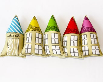 TOOTH FAIRY pillow -tiny colorful tooth fairy house- lost tooth gift- tooth pillow for kids- small kids gift- ORIGINAL tooth fairy pillow