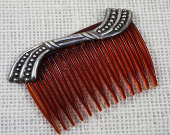 Sterling Silver Modernist Mexico Hair Comb