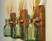 Farmhouse style 1868 Green Honey Bottles, Farmhouse kitchen, home wall decor, shabby chic bottles, country kitchen, antique bottles, glass