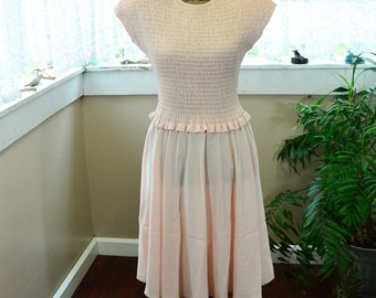 Vintage Pink Liz Claiborne Dress  S - M (B1)