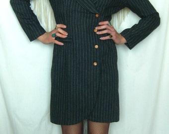 Vintage Rampage Wool Blend Pinstripe Dress Suit