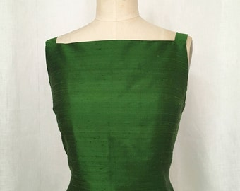 Emerald Green Silk Shantung Top