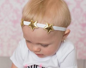 Star headband - Star hair piece - Star hair clip - Gold star headband - Star hair piece - Baby girl star headband  - Gold star hair bow