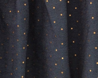Gold Dots in The Midnight Sky of Blue Jean: SKIRT