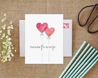 Pam to my Jim, The Office TV Show, The Office Card, The Office, Jim and Pam, The Office Jim & Pam, Valentine's Day, Card for Boyfriend, Love