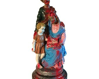 Zombie Family Sculpture
