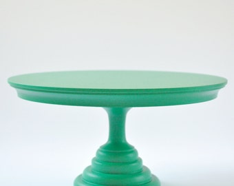 24cm emerald green cake stand