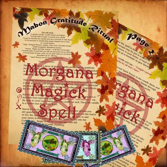 MABON GRATITUDE RITUAL, Book of Shadows Pages,  Digital Download, Grimoire, Scrapbook, Spells, Wicca, Pagan, Witchcraft