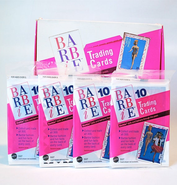2 Barbie Trading Card Packs by Mattel