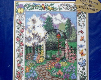 Bucilla WROUGHT IRON GATE Counted Cross Stitch Kit
