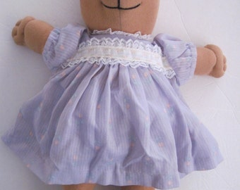 Teddy Bear Soft Sculptured Lavender Print Dress