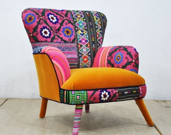 Patchwork Armchair - sweet honey
