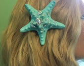 Seafoam 'Sparklefish' Sea-star Hairclip *ready to ship!